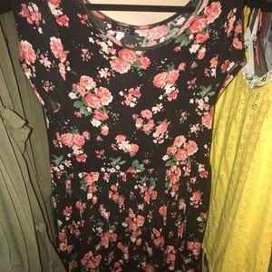floral tee shirt dress